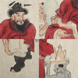 GA170 100% HAND PAINTED FIGURE CHINESE TRADITIONAL INK SCROLL PAINTING