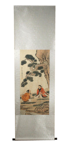 GA171 100% HAND PAINTED FIGURE CHINESE TRADITIONAL INK SCROLL PAINTING