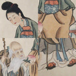 GA172 100% HAND PAINTED FIGURE CHINESE TRADITIONAL INK SCROLL PAINTING