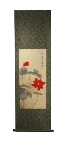 GA173 100% HAND PAINTED FLOWER BIRD CHINESE TRADITIONAL  INK SCROLL PAINTING