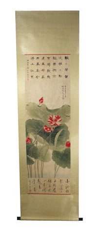 GA175 100% HAND PAINTED FLOWER BIRD CHINESE TRADITIONAL  INK SCROLL PAINTING