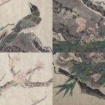 GA177 100% HAND PAINTED FLOWER BIRD CHINESE TRADITIONAL  INK SCROLL PAINTING