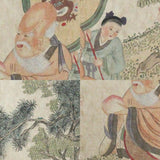 GA180 100% HAND PAINTED FIGURE CHINESE TRADITIONAL INK SCROLL PAINTING