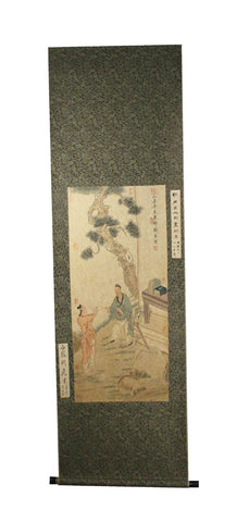 GA182 100% HAND PAINTED FIGURE CHINESE TRADITIONAL INK SCROLL PAINTING