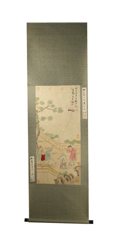 GA183 100% HAND PAINTED FIGURE CHINESE TRADITIONAL INK SCROLL PAINTING