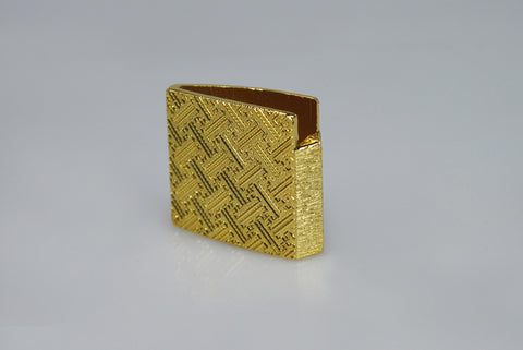 HA003G ONE PIECE GILT HABAKI WITH CHINESE PATTERN