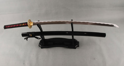 1060 Carbon Steel Battle Ready Imitation Tempered Japanese Samurai Sword Katana Full Tang