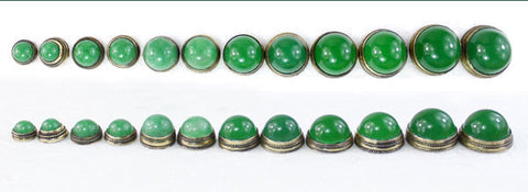 10mm-21mm GREEN JADE STOPPER FOR SNUFF BOTTLE
