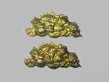 MA029 JP SAMURAI KATANA ORNAMENTS TIGER DRAGON BRASS BIG MENUKI