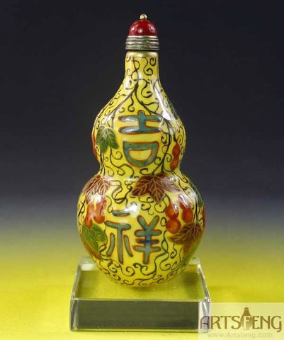 SB028 FENCAI FINLY HAND MADE PORCELAIN SNUFF BOTTLE