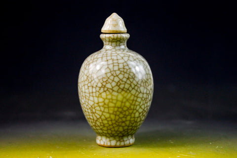 SC138 D18mm HAND MADE GEWARE CRACKLE SURFACE SNUFF BOTTLE