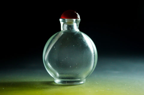 SC147 D17mm SNUFF BOTTLE TRANSPARENT GLASS