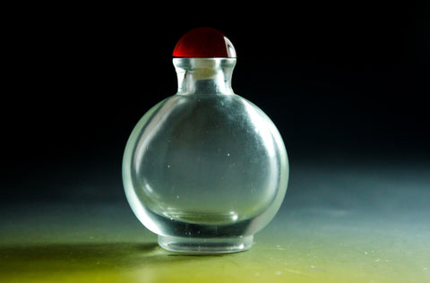 SC150 D17mm SNUFF BOTTLE TRANSPARENT GLASS