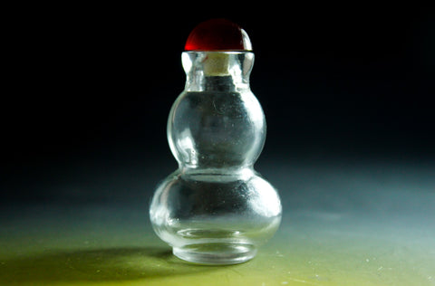 SC155 D19mm SNUFF BOTTLE TRANSPARENT GLASS