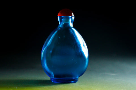 SC158 D17mm SNUFF BOTTLE TRANSPARENT GLASS