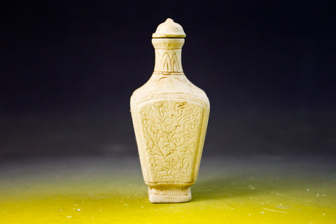 SC186 D13mm SNUFF BOTTLE CARVED PATTERN PORCELAIN