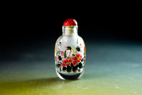 SC195 D11mm SNUFF BOTTLE INSIDE DRAWING GLASS