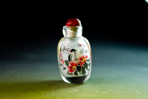 SC197 D11mm SNUFF BOTTLE INSIDE DRAWING GLASS
