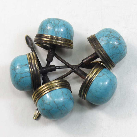 22mm-30mm TURQUOISE STOPPER FOR SNUFF BOTTLE