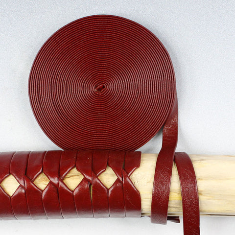 STC008 5M RED MANMADE LEATHER TSUKA-ITO
