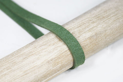 STE004 GREEN SUEDE MAN-MADE LEATHER BRAID TSUKA ITO