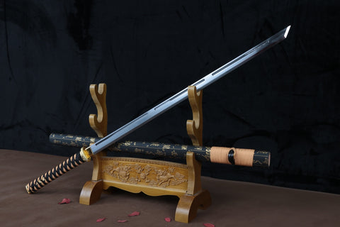 Ultimate manganese steel gilt fitting sharp functional Chinese Sword Tang Xiying Dao
