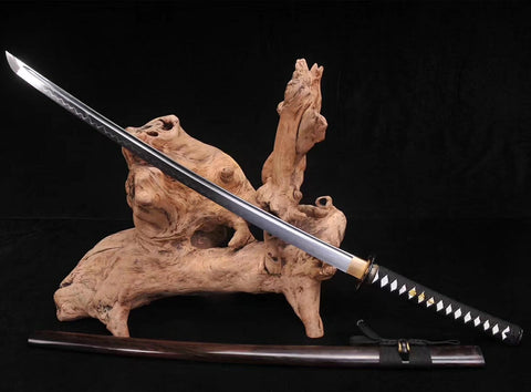 1095 High Carbon Steel clay tempered Hand made Craved iron fitting Japanese samurai sword katana