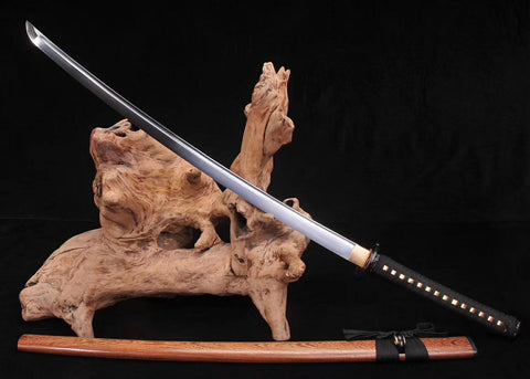 High Manganese steel Rosewood Japanese alloy fitting samurai sword katana