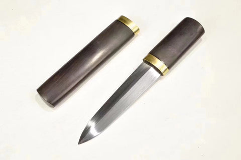 Folded Steel Black ebony Brass fitting Chinese Sword Cutlass Jian