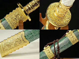 Folded steel gilt silver color fitting Rayskin battle ready Chinese Sword Kangxi Dao
