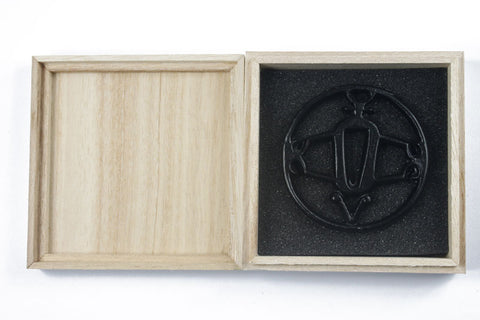 TB028   IRON TSUBA WITH BOX