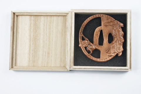 TB032   IRON TSUBA WITH BOX