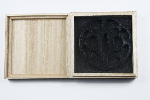 TB044   IRON TSUBA WITH BOX