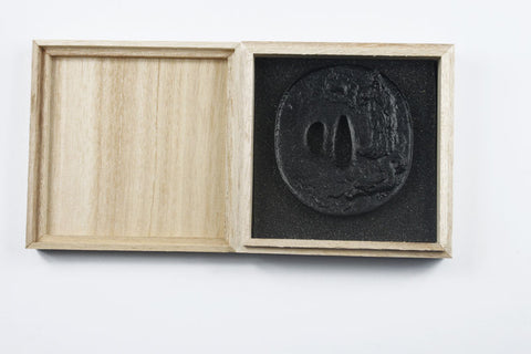 TB047  IRON TSUBA WITH BOX