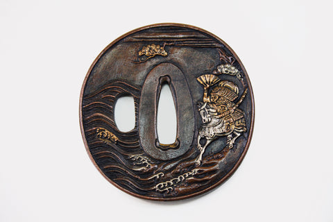 TC054 PINE SEA WARRIOR TSUBA