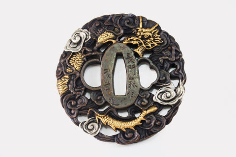 TD030 CLOUD DRAGON TSUBA
