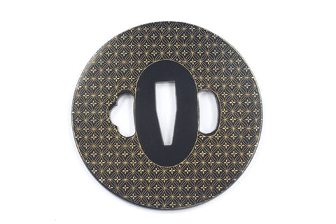TE008 JAPANESE KATANA IRON TSUBA WITH PATTERN