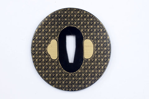 TE014 JAPANESE KATANA IRON TSUBA WITH PATTERN