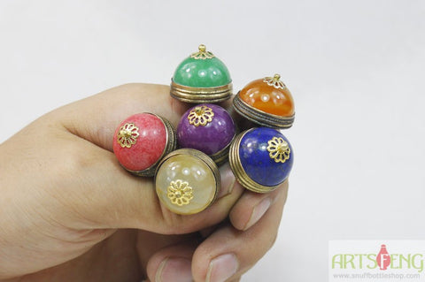 MULTI COLOR JADE STOPPER TOP DECORATION FOR SNUFF BOTTLE