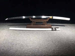 High Manganese Steel Hand Made Wave Hamon Grinded White Japanese Samurai Sword Katana