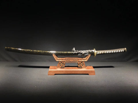 Folded steel Finely Hand made brass fitting  Japanese samurai sword katana