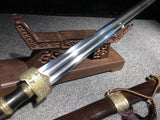 New Folded Steel Brass Fitting Black ebony Chinese Sword Taie Jian