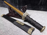 High Red Manganese steel Blade brass Fitting Black ebony Chinese Sword Han Jian