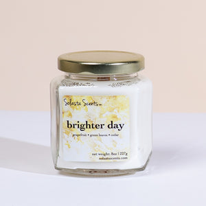 Brighter Day - Luxury Coconut Wax | Wooden Wick Candle - Solasta Scents
