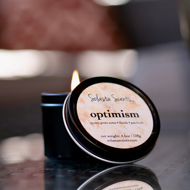 Optimism Black Travel Candle
