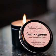 Load image into Gallery viewer, For a Queen Black Travel Candle