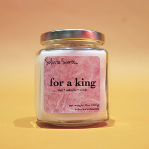 For a King - Luxury Coconut Wax | Wooden Wick Candle - Solasta Scents