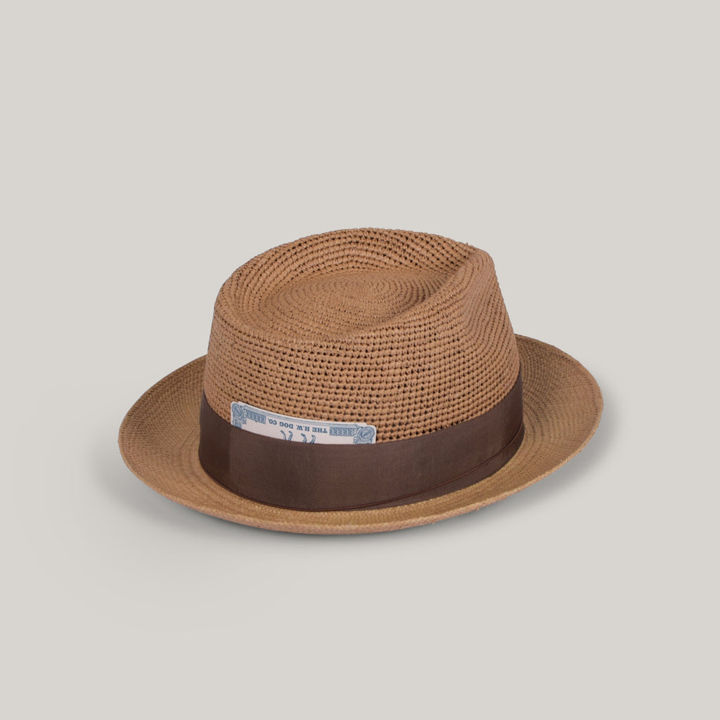 H.W. DOG & CO. PINCH CROCHET PANAMA - BEIGE