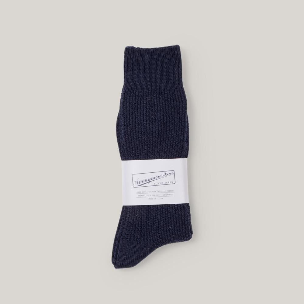 ANONYMOUS ISM PIQUE RIB CREW - NAVY