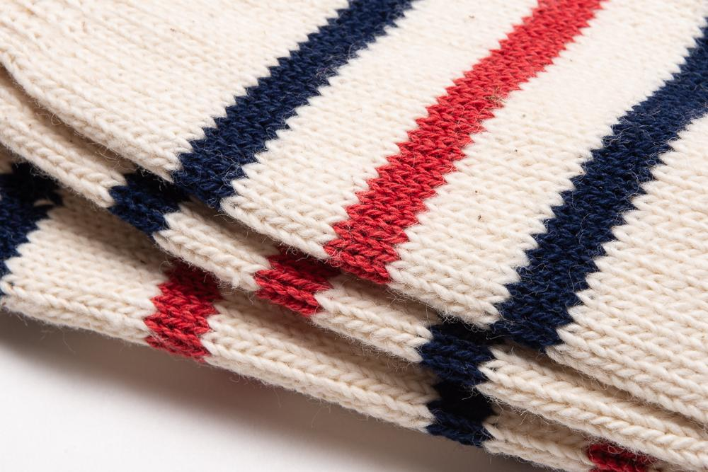 ANONYMOUS ISM RECYCLED COTTON STRIPE 3Q - RED/NAVY